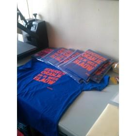 Koningsdag shirt iedereen oranje en ik weer blauw
