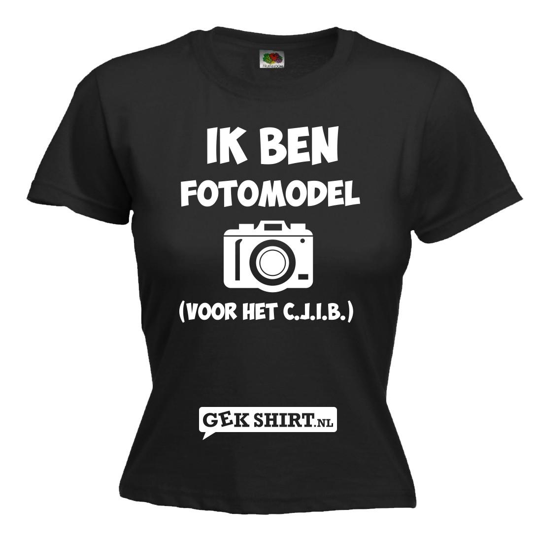 Ik ben Fotomodel voor het Cjib Leuk Dames shirt