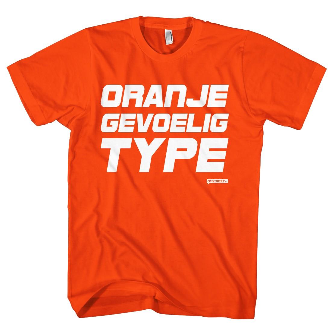 Oranje gevoelig type Heren shirt
