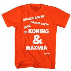 Oranje boven leve de Koning & Maxima t-shirt.