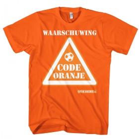 Code oranje Waarschuwing T-shirt